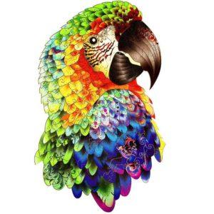 Drevené puzzle Papagáj